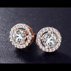 Accessories - Rose Gold Cubic Zirconia Earrings